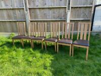 6x brown dining chairs