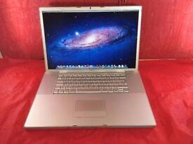 "Apple MacBook Pro A1261 17"", 2008, 500GB, Core 2 Duo Processor, 4GB RAM +WARRANTY, NO OFFERS, L125"