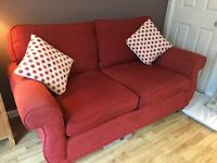 Laura Ashley 2 seater red sofa