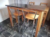John Lewis Breakfast bar with stools