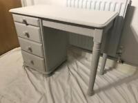 Grey solid pine dressing table