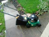 LIGHTWEIGHT PETROL LAWNMOWER IN EXCELLENT CONDITION