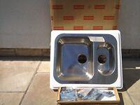 Franke kitchen sink 1.5 bowl stainless steel