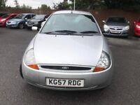 57 plate - ford ka - 1.3 petrol - one year mot - new clutch - very strong service history