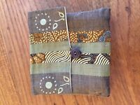 Set of 5 coasters - NEW - Made of fabric and silk, come in a lovely pouch