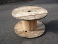 Wooden Reclaimed Industrial Cable Reel/Drum,Table, 100 cm x 57 cm Upcycled/Craft project.