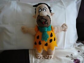 Fred Flintstone Hand Knitted -New