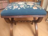 Charming tapestry stool