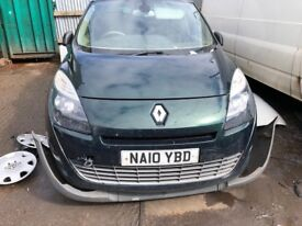 2010 Renault Gscenic Privilege T-t Dci 1.5 Diesel Green BREAKING FOR SPARES