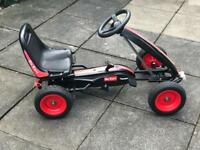 Black and Red Pedal Go Kart excellent condition