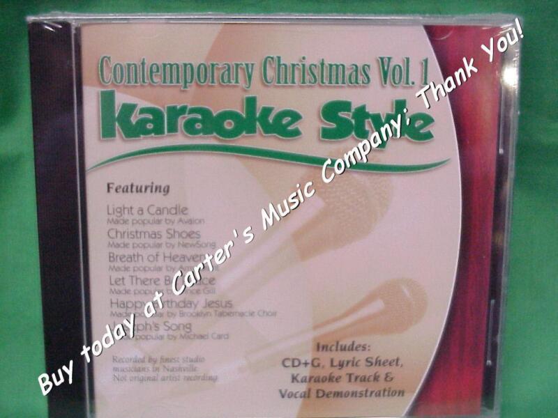 Contemporary Christmas #1 Daywind Christian Karaoke Style~ Christmas Shoes ~CD+G