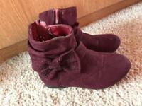 Swede purple girls boots