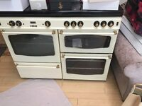 Double gas and electric oven