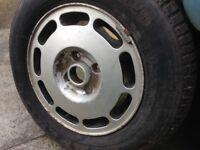 Audi 100 alloy wheel 185 70 14 tyre