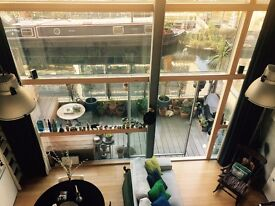 Stunning Canal-side Loft style Apartment for short term Xmas sublet 20th Dec-10th Jan