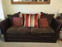 Barker & Stonehouse Wallis 3 seater sofa and matching footstool