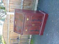 mahogany colour bureau / bedroom cabinet mini desk