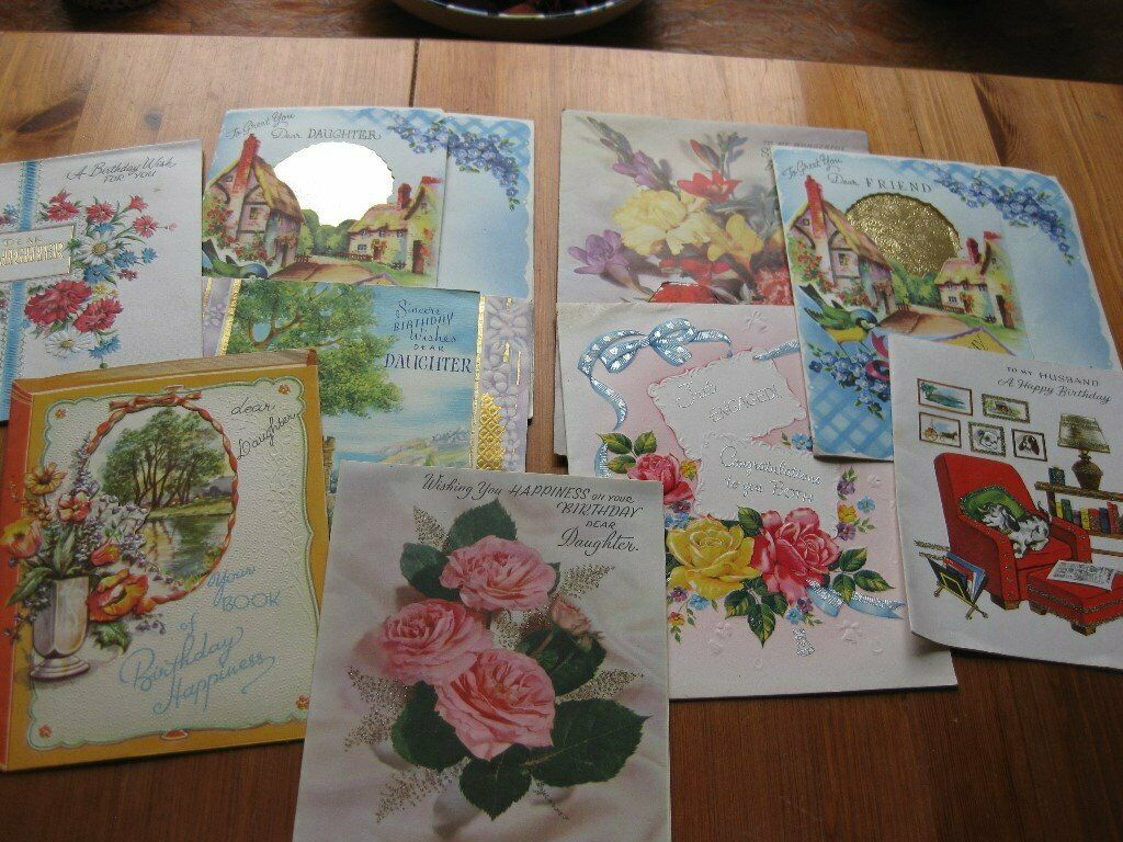 VINTAGE BIRTHDAY CARDS