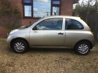Nissan Micra 1.2 petrol in Gold cheap To run.
