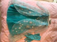 Disney's Queen Elsa Dress, gloves & Tiara Set
