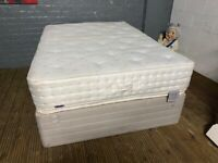 DOUBLE BED BASE WITH MATTRESS IN GOOD CONDITION FREE DELIVERY MCR