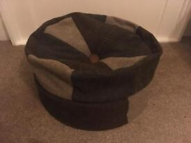 Harris Tweed Footstool Tetrad Pumpkin Beanbag