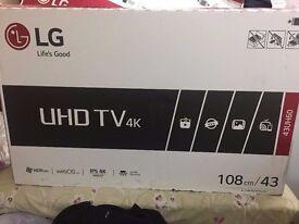 Lg 43 inch uhd smart led tv brand new