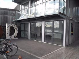 446 sq.ft (41 sq.m) ground floor office to let in Riverside Building, Trinity Buoy Wharf E14 0JW