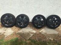 Audi TT VW Ronal 17 inch 6 spoke alloy wheels dark anthracite - 8N0601025A
