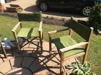 Matching Pair Of Luxury Folding Garden Chairs