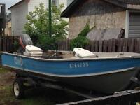 14ft deep and wide aluminum boat.