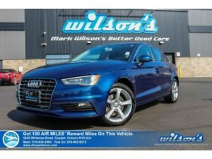 2015 Audi A3 1.8T KOMFORT | LEATHER | SUNROOF | HEATED SEATS |