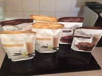 Juice plus vanilla and chocolate shakes plus two bottles of berry capsules