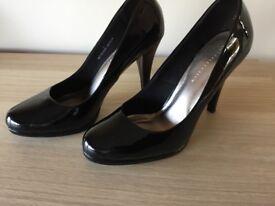 Black patent heels. Size 7
