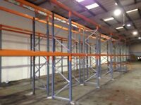 4 bay run of dexion pallet racking ( storage , shelving )