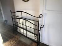 Double Victorian style metal bed + mattress if needed