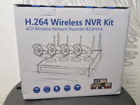 NEW BOXED Full 1080p HD Wireless Wi Fi CCTV 4 Channel Recorder Camera System With NVR Kit