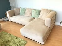Ikea 4 piece modular sofa 'Tylosand' faux suede material , washable, soft sand colour.
