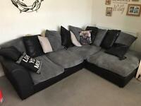 Corner sofa plus two seater sofa