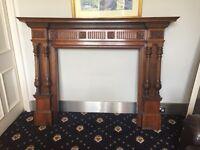 Beautiful wooden mantelpiece fireplace