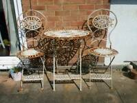 Vintage shabby chic garden table and chairs