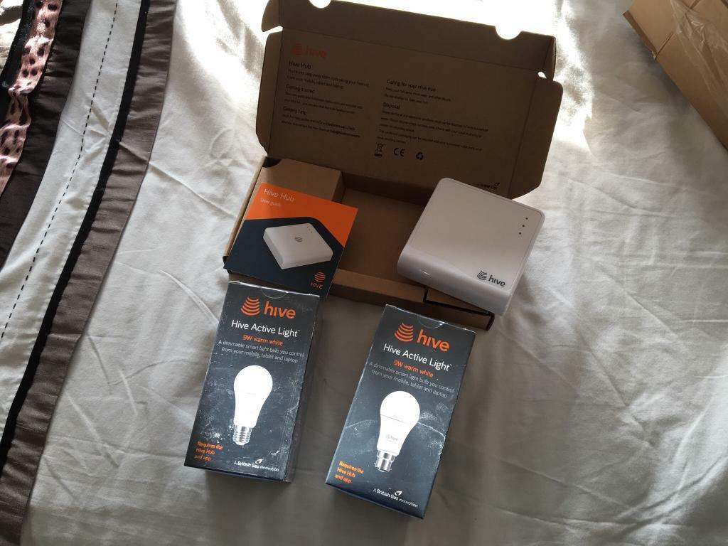 Hive hub & 2 Active Lights