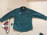 Scout Uniform - green shirt with long sleeves.