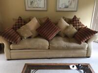 Sofa, Armchair, & Furniture - Desk, Cabinet, small cabinet £195 ONO