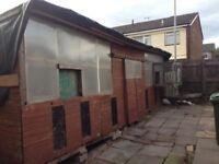 Pigeon loft 24ftx6 shed, livestock