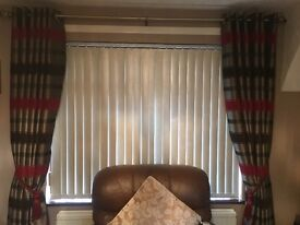 Eyelet curtains 2 sets