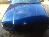 BMW E36 SALOON TOURING COMPACT BONNET AVUS BLUE