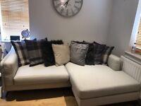 DFS stone L shape corner sofa