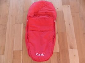 iCandy Apple Luxury Footmuff - Redcurrant