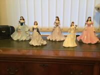 COLLECTION OF BONE CHINA FIGURINES